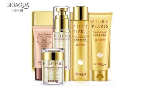 Набор для лица с жемчужной пудрой BioAqua Pure Pearls Face Care Set