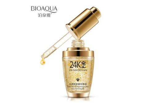 Сыворотка с частицами золота и гиалуроновой кислотой BioAqua 24K Gold Skin Care