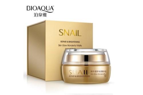 Увлажняющий крем для лица с муцином улитки BioAqua Snail