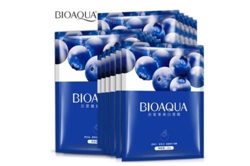 Тканевая маска с экстрактом черники BioAqua Blueberry facial mask