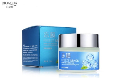 BioAqua Freeze Mask Hyaluronic Acid Ice Feeling Moist Night Jelly