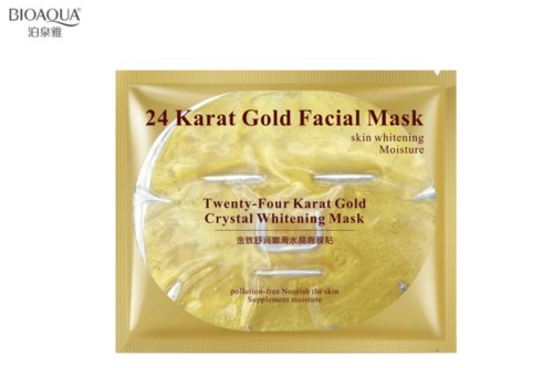 BioAqua hydrogel face mask 24 gold