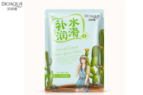 Bioaqua natural extract mask aloe cactus