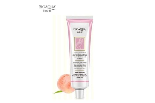BioAqua Peach Hand Cream.