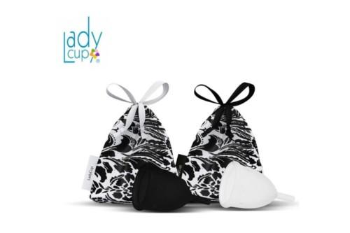 LadyCup черно-белая