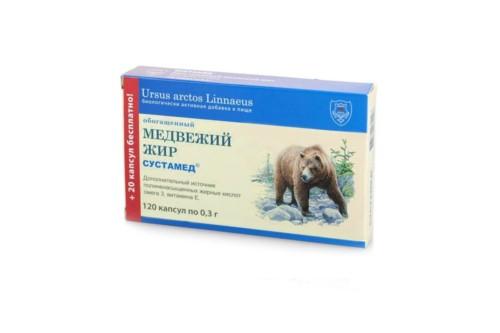 Сустамед медвежий жир 120кап