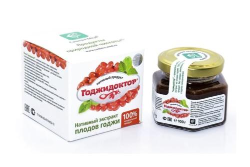 Годжидоктор Нативный экстракт плодов годжи, Сашера-мед, 100г