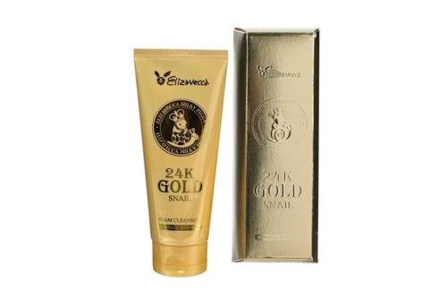 Пенка для умывания с муцином улитки и золотом Elizavecca 24k Gold Snail Cleansing Foam, 180 мл