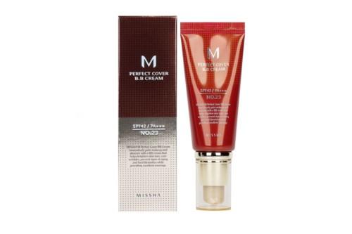 Missha M Perfect Cover BB Cream Тональный ББ-крем №23, натуральный бежевый, 50 мл