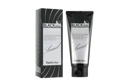 Пенка для умывания с муцином черной улитки FarmStay Black Snail Deep Cleansing Foam, 180 мл