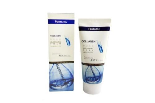 Пенка для умывания с коллагеном FarmStay Collagen Pure Cleansing Foam, 180 мл