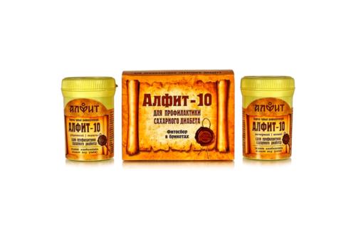 Алфит 10 для профилактики сахарного диабета, 60 брикетов, 120г