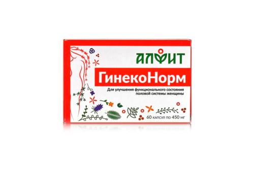 Биологически активная добавка к пище ГинекоНорм, в блистере, 60 капс по 450 мг