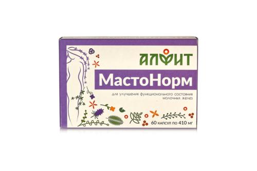 Биологически активная добавка к пище МастоНорм, в блистере 60 капс по 410 мг