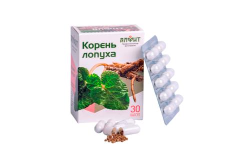 Концентрат на растительном сырье Корень лопуха блист ,30 капс по 450 мг