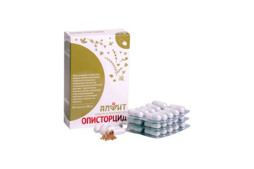 Концентрат на растительном сырье Описторцид, 60 капс по 500 мг