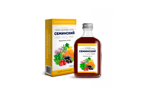 Альпина Семинский здоровые почки, Бальзам медово растительный, бут стекло, 250мл