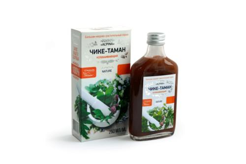 Альпина Чике таман успокаивающий, Бальзам медово растительный, бут стекло, 250мл