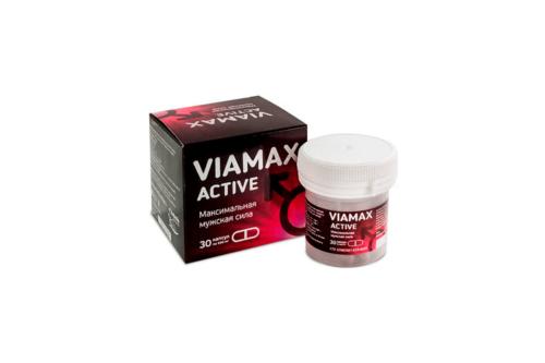 VIAMAX–AСTIVE Активатор мужской силы, банка ПЭТ, капсулы 30 шт по 0,5г